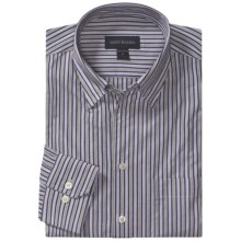Scott Barber Christopher Fancy Stripe Sport Shirt - Long Sleeve (For Men) in Charcoal/Lilac - Closeouts