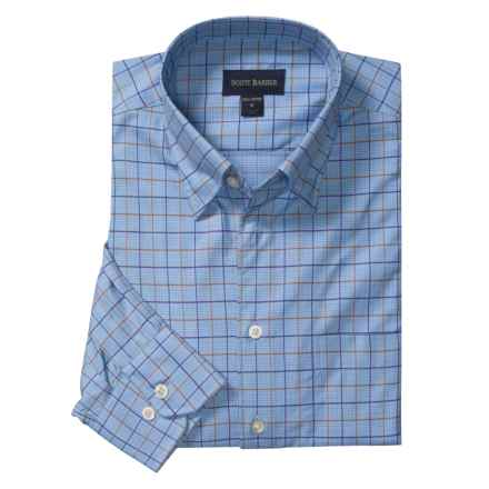 Scott Barber Cotton Check Sport Shirt - Long Sleeve (For Men) in Blue/Brown/Purple - Closeouts