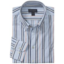 Scott Barber Dermer Sport Shirt - Dobby Stripe, Long Sleeve (For Men) in Blue/Purple/Orange - Closeouts