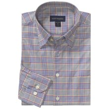 Scott Barber Houndstooth Sport Shirt - Twill, Long Sleeve (For Men) in Blue/Purple/Yellow - Closeouts