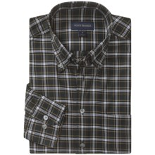 Scott Barber James 4x4 Check Sport Shirt - Twill, Long Sleeve (For Men) in Black/White/Tan - Closeouts