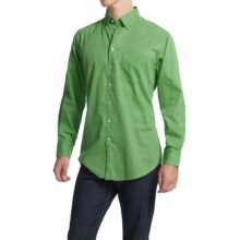 Scott Barber James Bedford Corded Cotton Shirt - Long Sleeve (For Men) in Green - Closeouts