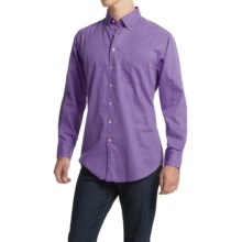Scott Barber James Bedford Corded Cotton Shirt - Long Sleeve (For Men) in Lavander - Closeouts