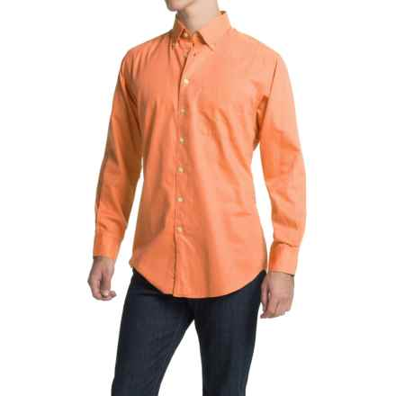 Scott Barber James Bedford Corded Cotton Shirt - Long Sleeve (For Men) in Orange - Closeouts