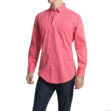 Scott Barber James Bedford Corded Cotton Shirt - Long Sleeve (For Men) in Pink - Closeouts