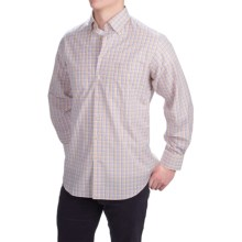 Scott Barber James Compact Poplin Check Shirt - Long Sleeve (For Men) in Blue/Lavender/Orange/Yellow - Closeouts