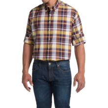 Scott Barber James Compact Poplin Shirt - Long Sleeve (For Men) in Green/Orange/Black Plaid - Closeouts