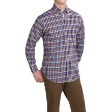 Scott Barber James Compact Poplin Shirt - Long Sleeve (For Men) in Multi Plaid - Closeouts