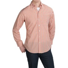 Scott Barber James Compact Poplin Shirt - Long Sleeve (For Men) in Orange/Red Check - Closeouts