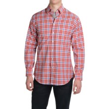 Scott Barber James Compact Poplin Shirt - Long Sleeve (For Men) in Red/Blue/Forest Green Plaid - Closeouts