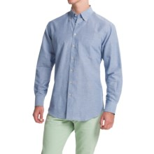 Scott Barber James Cotton Dobby Shirt - Long Sleeve (For Men) in Blue - Closeouts