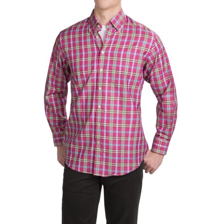 Scott Barber James Cotton Dobby Shirt Long Sleeve (For Men)
