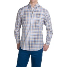Scott Barber James Cotton Dobby Shirt - Long Sleeve (For Men) in Sky Blue/Navy/Yellow/Red Check - Closeouts