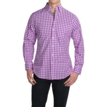 Scott Barber James Cotton Poplin Gingham Shirt - Long Sleeve (For Men) in Purple/White - Closeouts