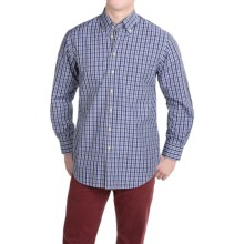 Scott Barber James Cotton Poplin Shirt - Long Sleeve (For Men) in Black/Navy Plaid - Closeouts