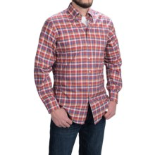 Scott Barber James Cotton Twill Madras Shirt - Long Sleeve (For Men) in Purple/Red/Orange - Closeouts