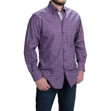 Scott Barber James Cotton Twill Plaid Shirt -  Long Sleeve (For Men) in Lavendar/Black/Yellow - Closeouts