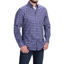 Scott Barber James Cotton Twill Plaid Shirt -  Long Sleeve (For Men) in Purple/White/Black/Red - Closeouts