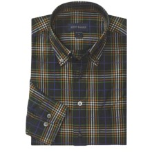 Scott Barber James Garment-Washed Sport Shirt - Cotton, Long Sleeve (For Men) in Black/Green/Orange Plaid - Closeouts