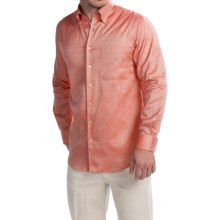 Scott Barber James Italian Super Oxford Shirt - Long Sleeve (For Men) in Coral - Closeouts
