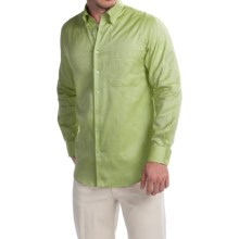 Scott Barber James Italian Super Oxford Shirt - Long Sleeve (For Men) in Green - Closeouts