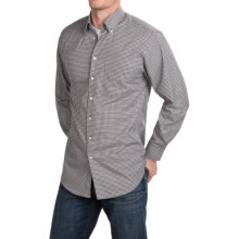 Scott Barber James Mini-Check Shirt - Long Sleeve (For Men) in Black/Yellow/Grey - Closeouts