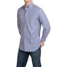 Scott Barber James Mini-Check Shirt - Long Sleeve (For Men) in Navy/White/Cream - Closeouts