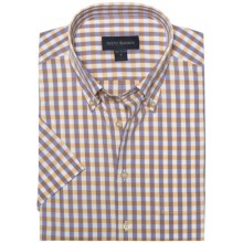 Scott Barber James Multi-Check Shirt - Button-Down Collar, Cotton Dobby, Short Sleeve (For Men) in Orange/Purple/White - Closeouts