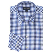Scott Barber James Multi-Check Sport Shirt - Long Sleeve (For Men) in Soft Blue/Navy/White - Closeouts
