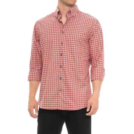 Scott Barber James Plaid Shirt - Long Sleeve (For Men) in Black/Red/White Plaid - Closeouts