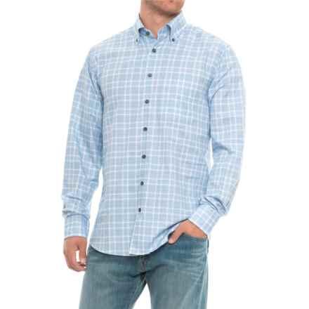 Scott Barber James Plaid Shirt - Long Sleeve (For Men) in Blue Plaid - Closeouts