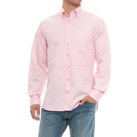 Scott Barber James Plaid Shirt - Long Sleeve (For Men) in Pink Plaid