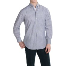 Scott Barber James Plain Weave Cotton Shirt - Long Sleeve (For Men) in Grey/Purple Plaid - Closeouts