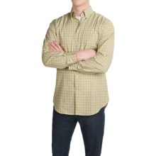 Scott Barber James Plain Weave Cotton Shirt - Long Sleeve (For Men) in Lime/Lavender Plaid - Closeouts