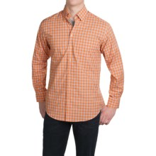 Scott Barber James Plain Weave Cotton Shirt - Long Sleeve (For Men) in Orange/Blue Plaid - Closeouts