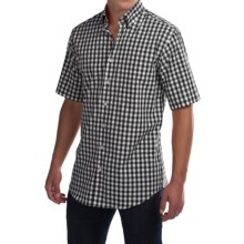 Scott Barber James Poplin Check Shirt - Button Front, Short Sleeve (For Men) in Black/White Check - Closeouts