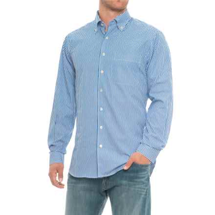 Scott Barber James Print Shirt - Long Sleeve (For Men) in Blue/White Striped - Closeouts