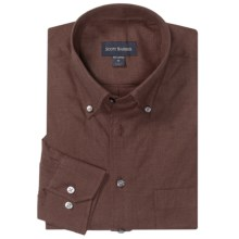 Scott Barber James Solid Melange Shirt - Long Sleeve (For Men) in Brown - Closeouts