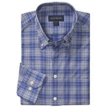 Scott Barber James Sport Shirt - Glen Plaid, Long Sleeve (For Men) in Blue/White/Navy - Closeouts