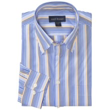 Scott Barber James Stripe Shirt - Cotton Poplin, Long Sleeve (For Men) in Blue/White/Yellow - Closeouts