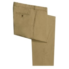 Scott Barber Lightweight Twill Pants - Flat Front (For Men) in Dark Tan - Closeouts