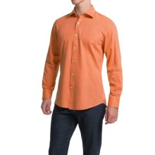 Scott Barber Martin Bedford Cord Shirt - Spread Collar, Long Sleeve (For Men) in Orange - Closeouts