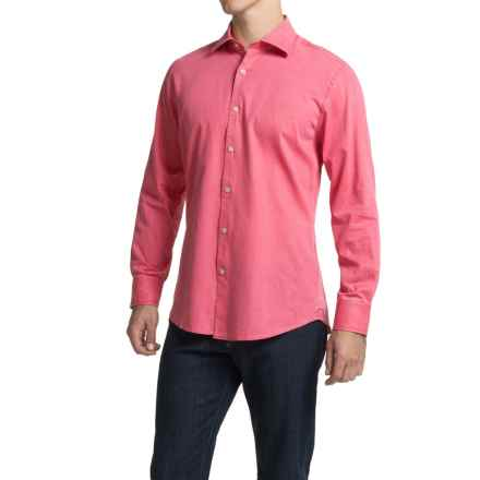 Scott Barber Martin Bedford Cord Shirt - Spread Collar, Long Sleeve (For Men) in Pink - Closeouts