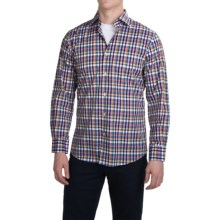Scott Barber Martin Compact Poplin Shirt - Long Sleeve (For Men) in Multi Plaid - Closeouts