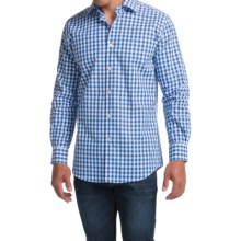 Scott Barber Martin Cotton Poplin Shirt - Long Sleeve (For Men) in Blue/White Check - Closeouts