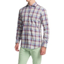 Scott Barber Martin Cotton Poplin Shirt - Long Sleeve (For Men) in Multi Plaid - Closeouts