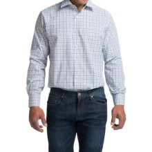 Scott Barber Martin Cotton Poplin Shirt - Long Sleeve (For Men) in White W/Blue/Green Check - Closeouts