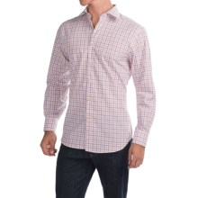 Scott Barber Martin Cotton Poplin Shirt - Long Sleeve (For Men) in White W/Orange/Purple Check - Closeouts