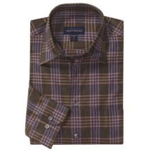 Scott Barber Melange Check Sport Shirt - Long Sleeve (For Men) in Brown/Lavender/Tan - Closeouts