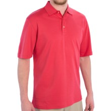 Scott Barber Pima Cotton Jersey Polo Shirt - Short Sleeve (For Men) in Cherry - Closeouts